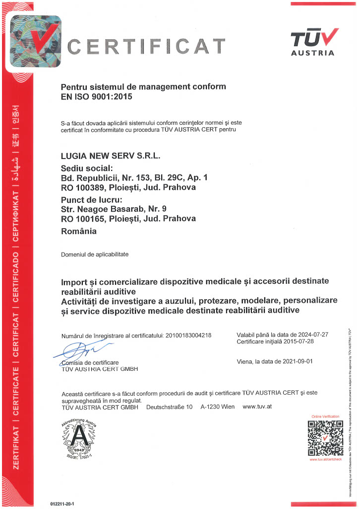 Certificat ISO 9001 Soundservice
